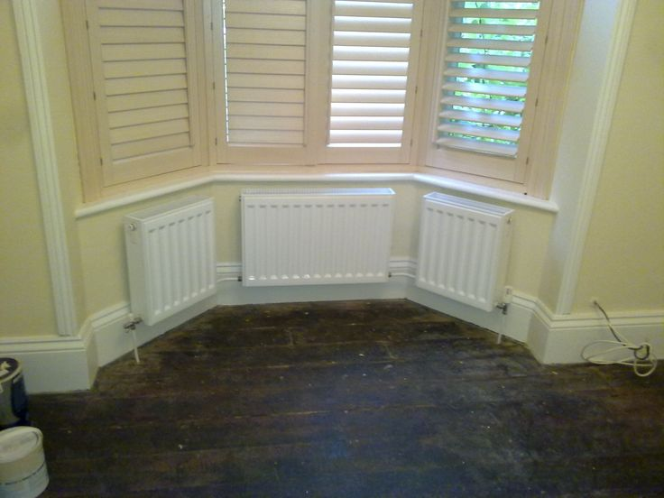 Bay window radiators | Rads | Victorian living room ...