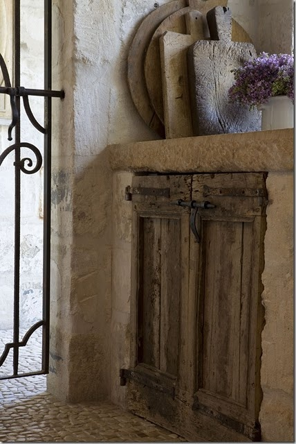 Like the style of the cabinet in terms of rustic wood and hardware, but for pantry/closet doors (more as an accent)