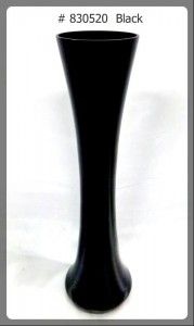 Black Vase 24 inches tall # 830520