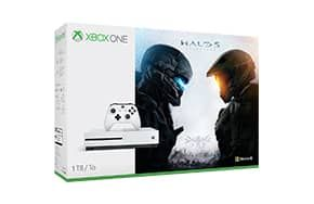 The Xbox One S Halo Collection Bundle includes an Xbox One S Console, Halo 5: Guardians, and a full game download of Halo: The Master Chief Collection.