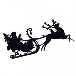 Free SVG File Download – Santa and Sleigh