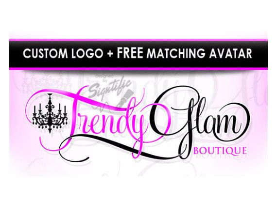Custom Boutique Logo with FREE avatar Website by SigntificDesigns