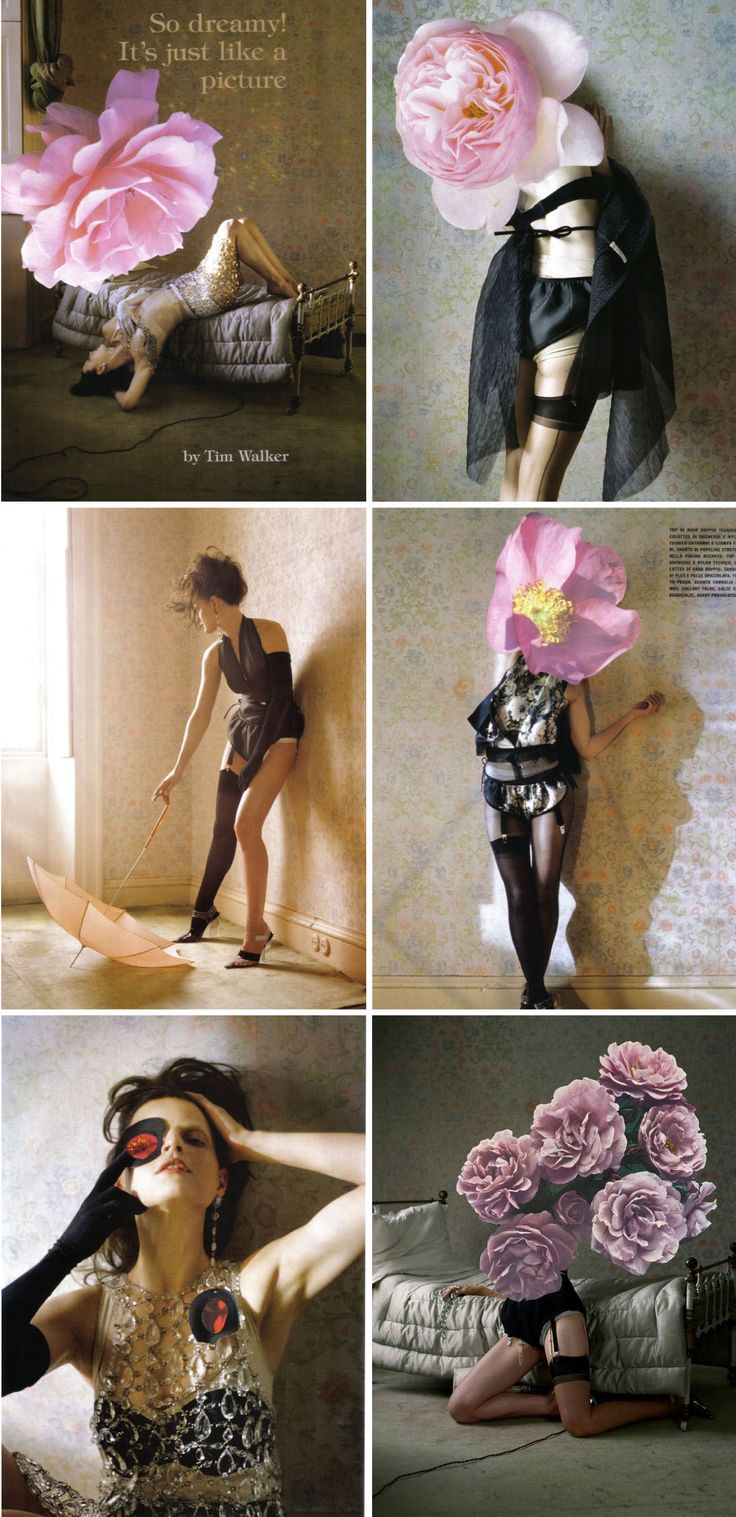 Nice idea for a different lingerie shoot maybe  Image by Tim Walker