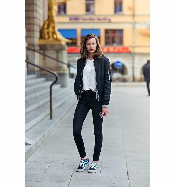 Veste noir avec jean
