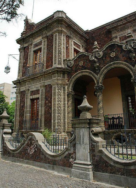 Rococo-style stone house in Guadalajara Mexico by Wonderlane, via Flickr