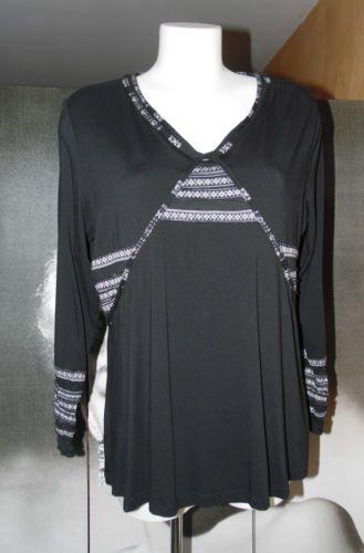 ALAIN-WEIZ-Haut-fluide-noir-TAILLE-42-Valeur-boutique-85-REF166-1