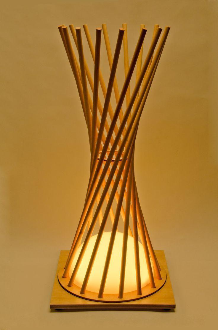 Hyperbola Lighting Wooden Lamp Holzlampe Holzleuchte Und Lampen