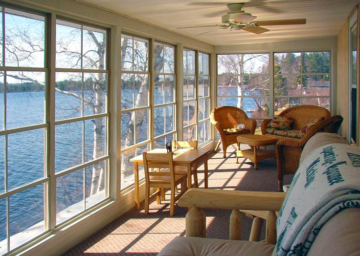 Screen porch conversion using our WeatherMaster Vertical 4 Track Window Source by www.KBSunspaces.com