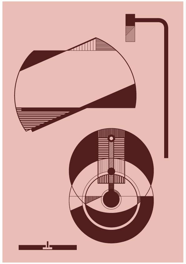 Kristina Dam Illustration - Lamp A4 - pink - Tinga Tango Design #kristinadamstudio#kristinadam#grafisk