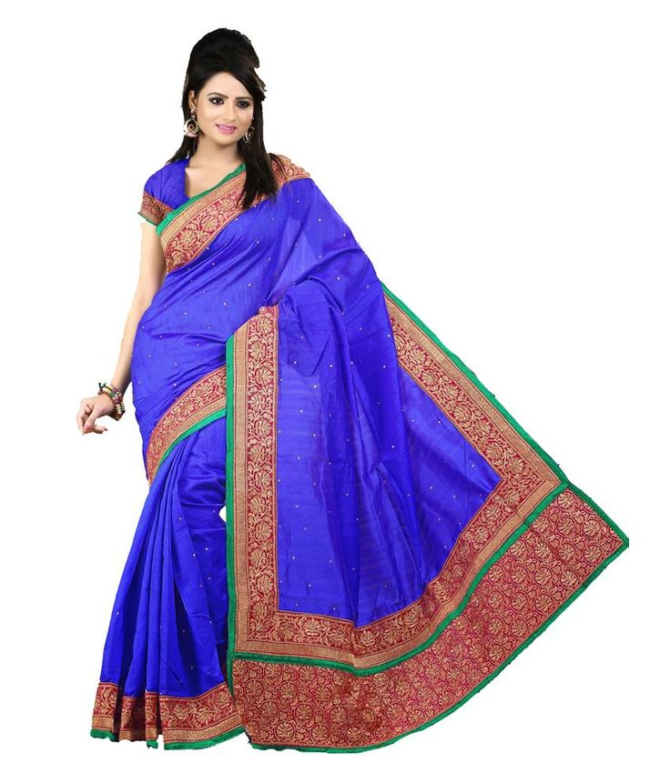 Maker Creation Bollywood Indian Multi Coloured Bhagalpuri Silk Saree For Ethnic Wear, http://www.snapdeal.com/product/maker-creation-bollywood-indian-multi/126795573