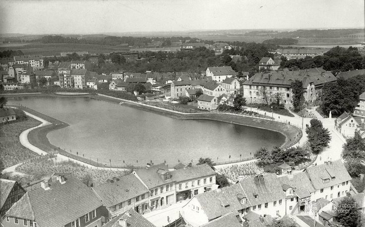 Insterburg. View of the Mill Pond and Castle from the Bell Tower of Lûterkirhi. Photo OK. 1935 year.