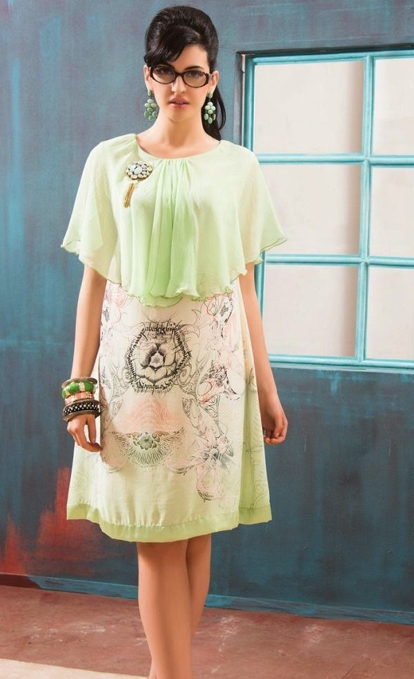 Lime Green Straight Cut Kurti