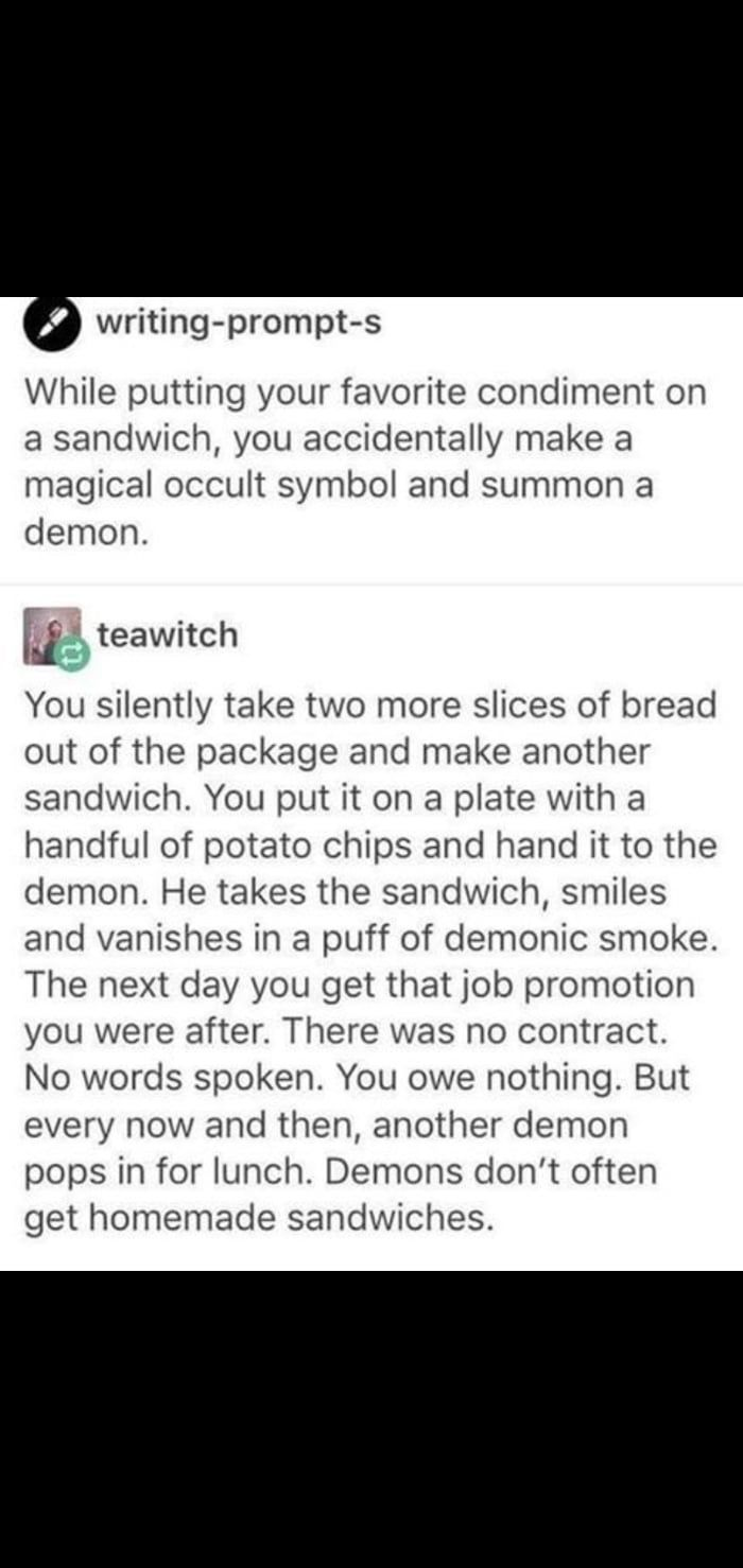 Wholesome Demons Demon Human Emotions Writing Prompts
