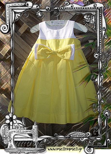 Βαπτιστικό φόρεμα σε αποκλειστικό σχέδιο ΜέλλονΜέλι Exclusive.   www.mellonmeli.gr