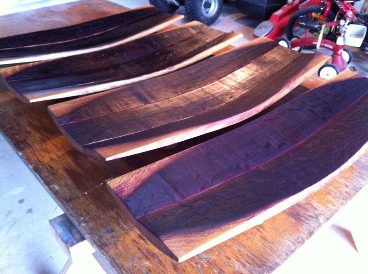 Platters made by Sebastian Hanse out of Trinity Hill Wines wine barrels. Upcyling at its best. Looking forward to seeing the finished product - a coat of oil to go.