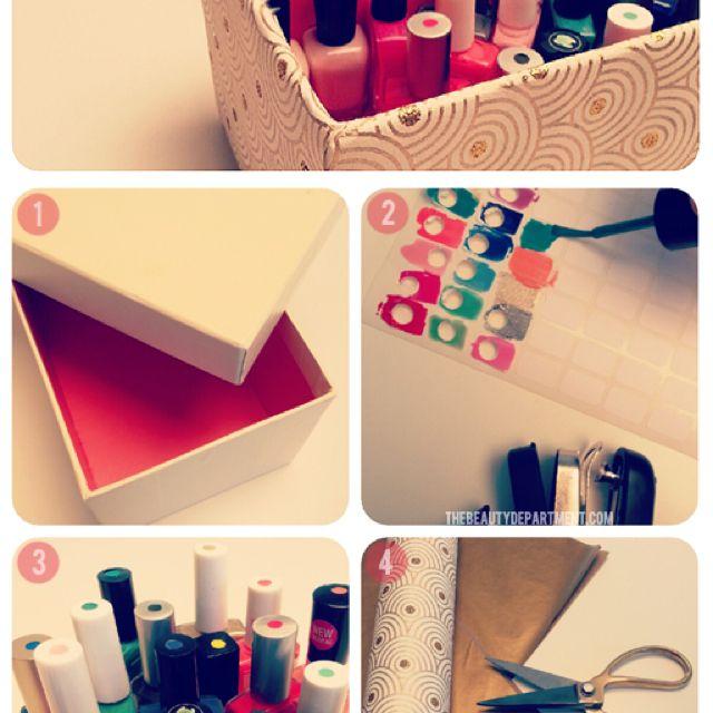 Easy nail polish storage
