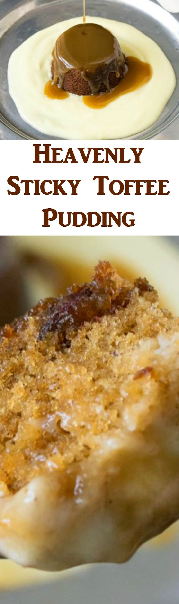 Heavenly Sticky Toffee Pudding is a classic English dessert, served with custard and a delicious toffee sauce, it tastes out of this world!