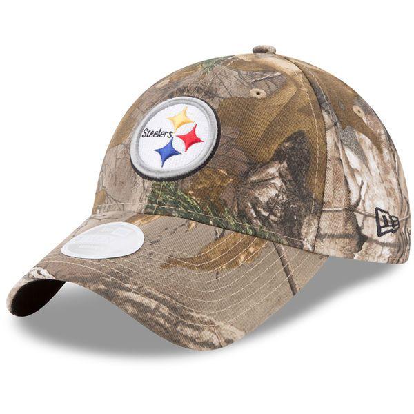 New Era Pittsburgh Steelers Women s Realtree Camo Lightly Structured  9TWENTY Adjustable Hat Pittsburgh Steelers Hats 06ce3ac83