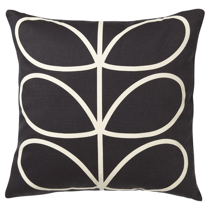 Orla Kiely: Linear Stem cushion with zip to close. This classic print will brighten up any sofa! Wash as cotton; for further care instructions please see care label.