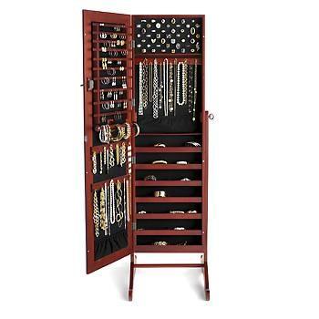 Fresh Mirror Jewellery Cabinet Box Full Length