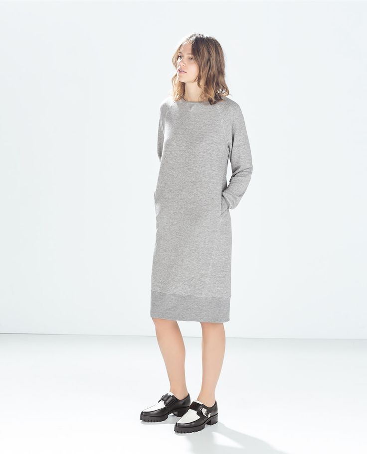 Favorite Jersey Sweatshirt Dress. It's so comfy, and has POCKETS !