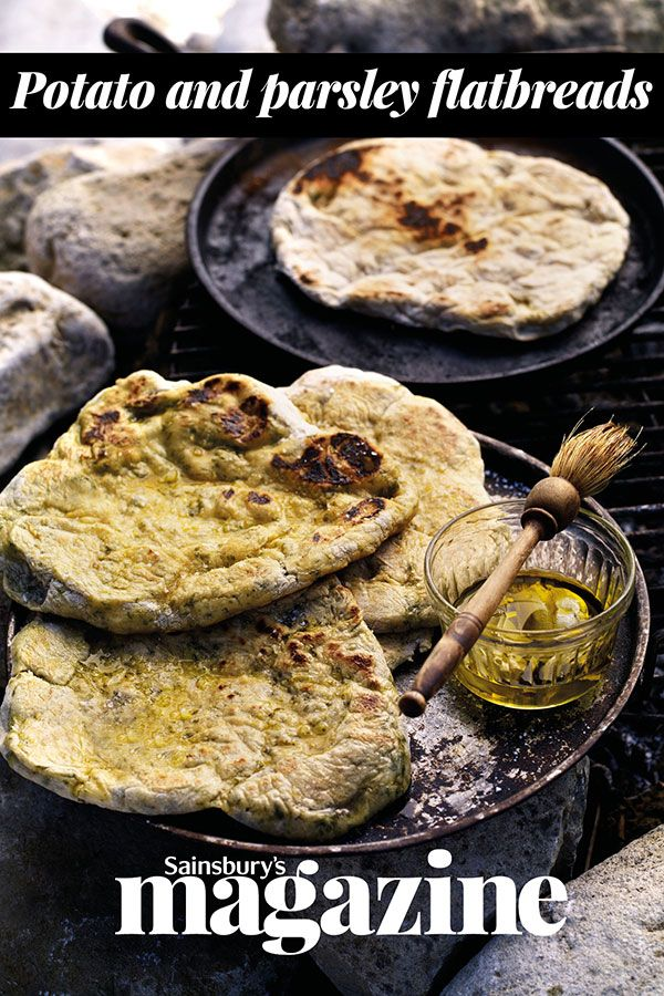Cook these potato flatbreads over an open fire and tear and share on Bonfire night