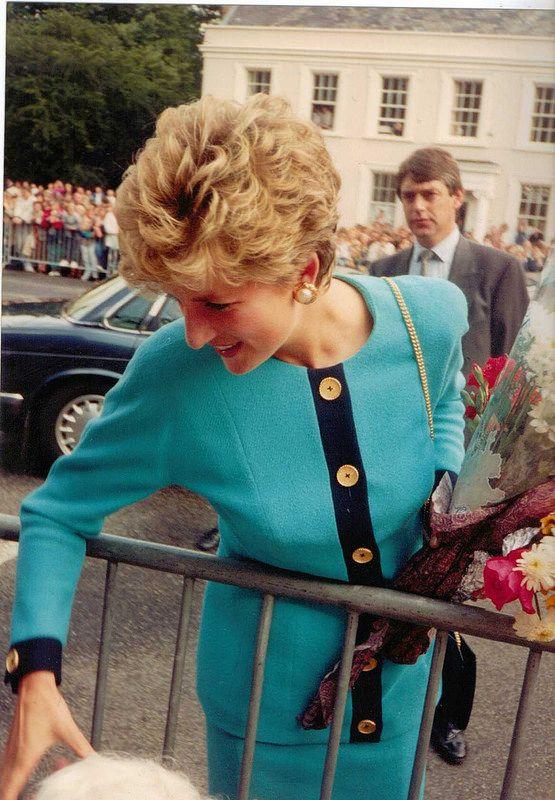 Princes Diana visit to Bury St Edmunds Suffolk