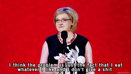 And how we feel about food, too. | 23 Times Sarah Millican Proved She's The Funniest Woman In Britain