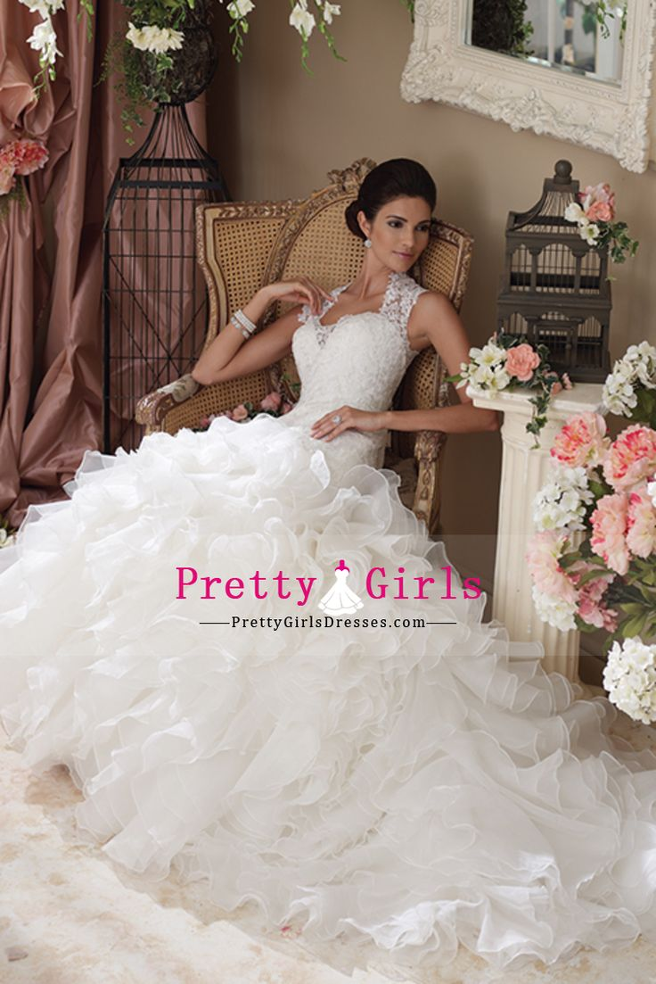 Wedding Dresses Mermaid/Trumpet Bateau Sleeveless Court Train (30cm-50cm) Tulle Zipper Up Back White
