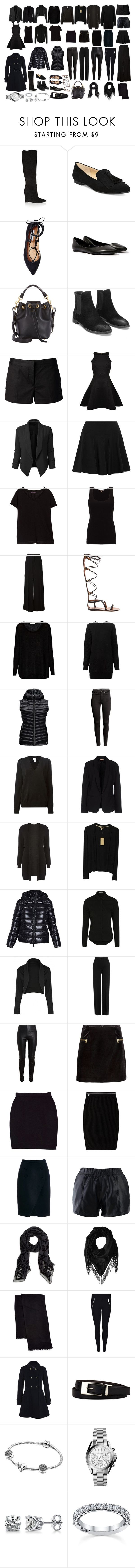 All Black Dress Code by eliza-elisei on Polyvore featuring Proenza Schouler, Ted Baker, Tomas Maier, Century Seven, Dorothy Perkins, Jigsaw, Violeta by Mango, George, Moncler and Burberry