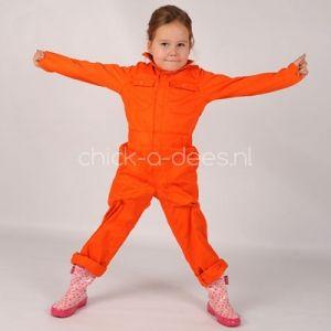 Overall kind oranje in de herfstkleur oranje!