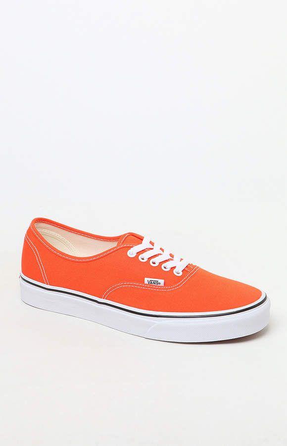 Vans Authentic Orange Shoes | Vans