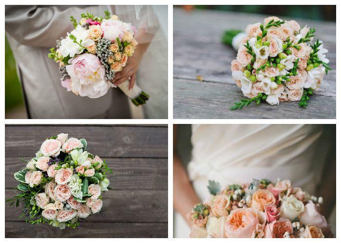 Свадебный букет для невесты из кустовой розы