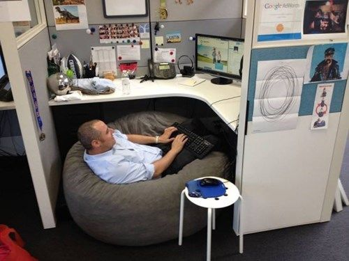 The Comfy Cubicle. I think I need to requisition for a new 'chair'