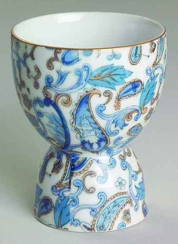 Lefton Blue Paisley NE2131 Double Egg Cup 6134313 | eBay
