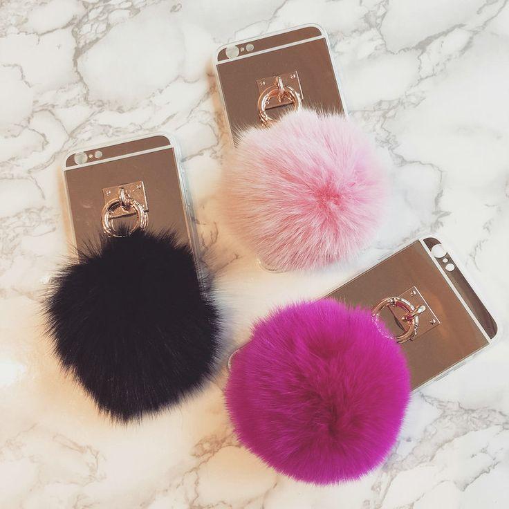 Fur ball pom pom iphone case