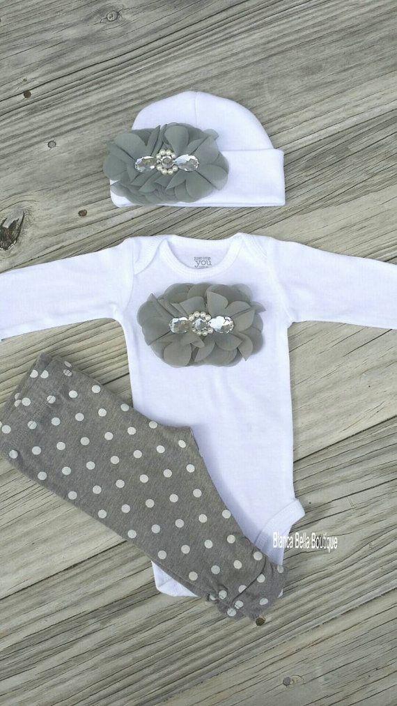 Neugeborenen Take Home Outfit Baby Mädchen Outfit von AdassaBaby