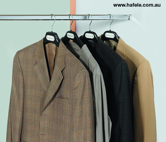 Wardrobe Rails and Accessories: Welded oval wardrobe rails.