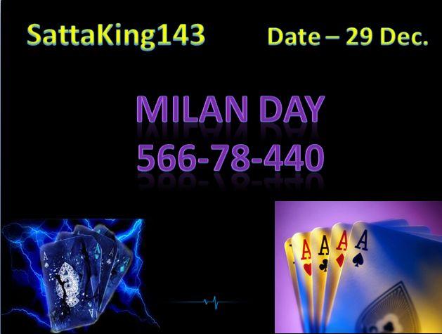 Today's Date- 29 Dec 2017 #satta #matka #sattaking  MILAN DAY Close http://sattaking143.mobi/
