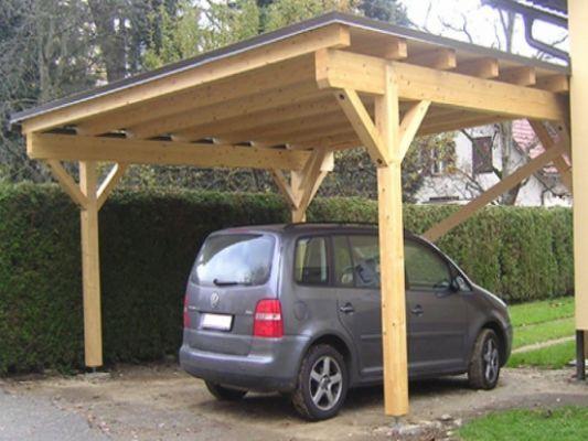 Wood Carport Kits Attached Wood