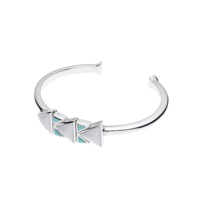PUSHMATAAHA // SPEARHEAD SLIM CUFF in American Turquoise with 925 Sterling Silver