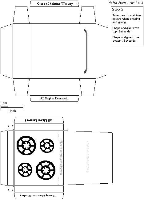 Exceptional Dollhouse Miniature Printables ~ Mini Cook Stove