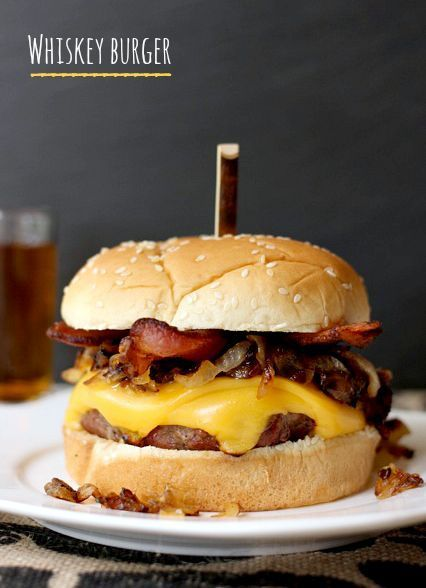 Get your grill ready for this one - soak your burger in whiskey before the grill for the ultimate burger!