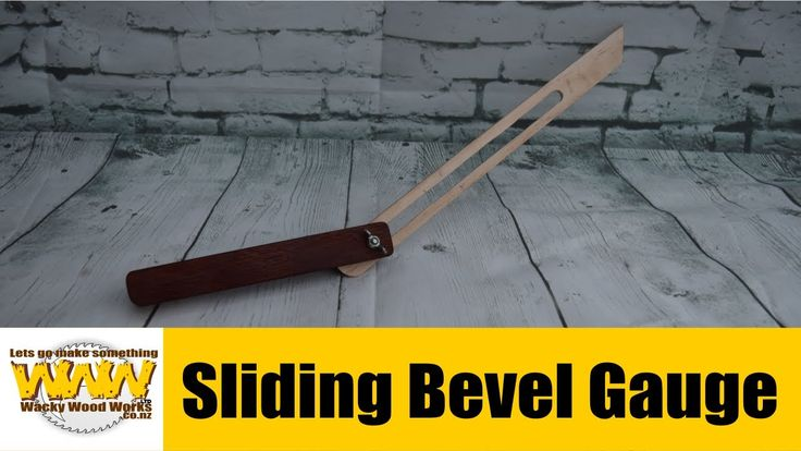 Make this Sliding Bevel Gauge - Off the Cuff - Wacky Wood Works.