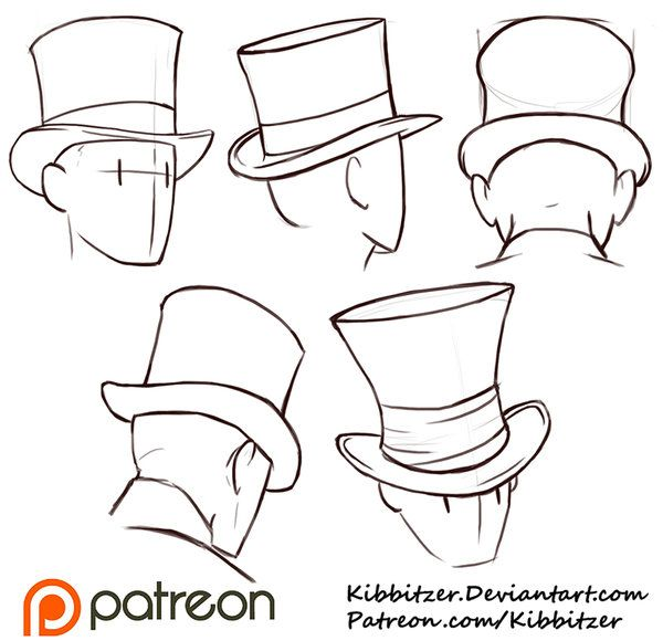 Top Hats Reference Sheet by Kibbitzer.deviantart.com on @DeviantArt