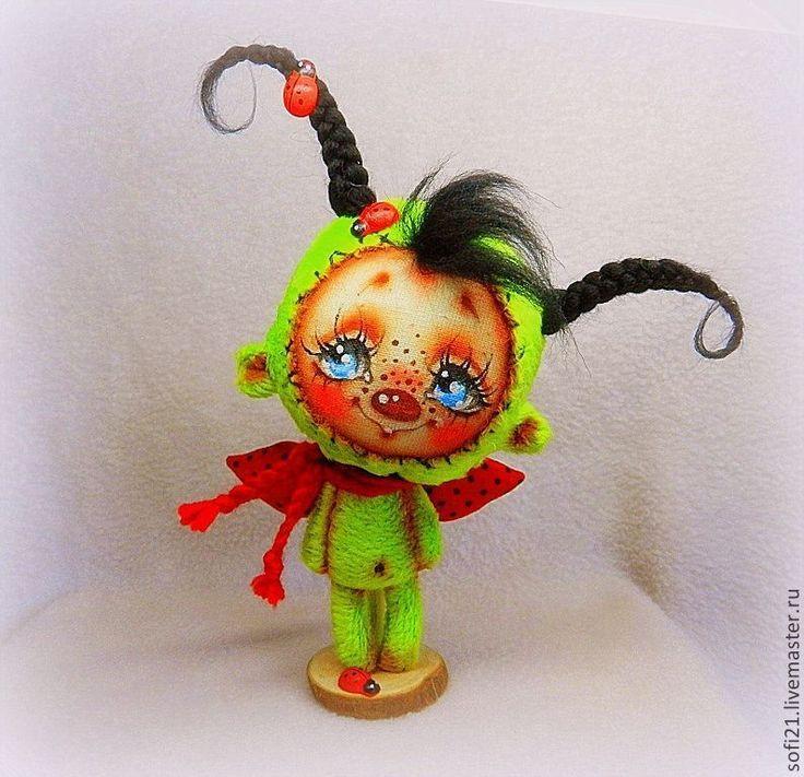 Купить Букашечка в лучиках лета - ловец счастья) - букашка, кукла, авторская игрушка, разные