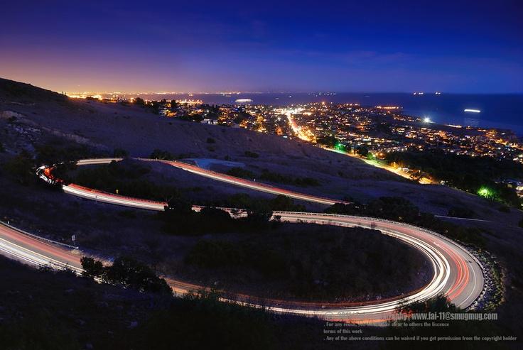 L.A. at night.