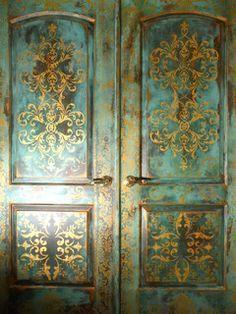 Faux Painted Doors - mediterranean - windows and doors - portland - by Johanna Annable, Old World Fine Artist
