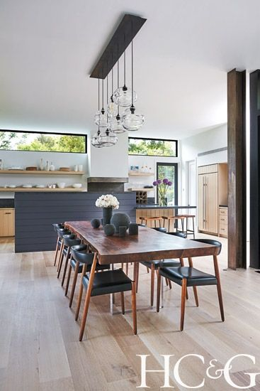 House Tour: Sag Harbor - Design Chic - love the combined kitchen and dining space