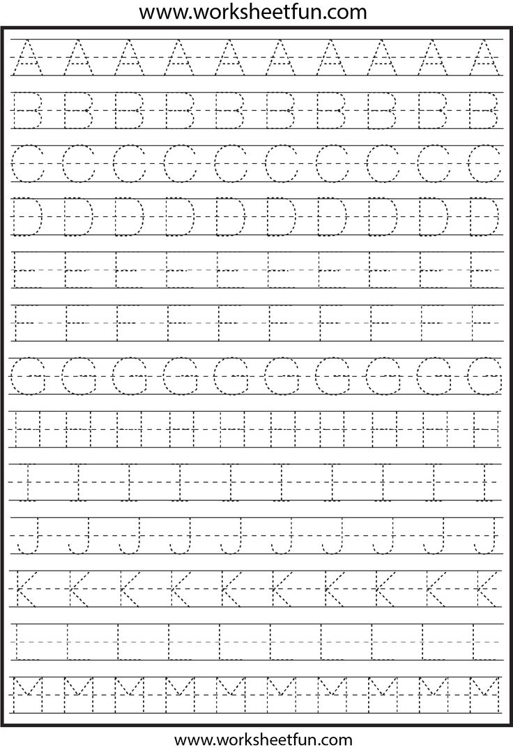 Worksheets Tracing Alphabet Worksheets best 25 letter tracing worksheets ideas on pinterest for kindergarten capital letters alphabet 26 free print